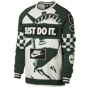 Nike New York City Crew Sweatshirt JDI Green/White